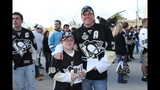 Game 1 of Pens vs. Flyers series: Fans, game - (8/25)