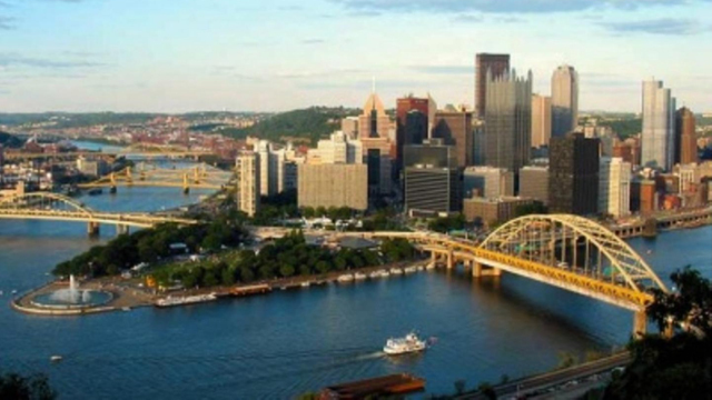 Pittsburgh confluence skyline