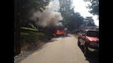Photos: Landscaping truck catches fire - (1/3)