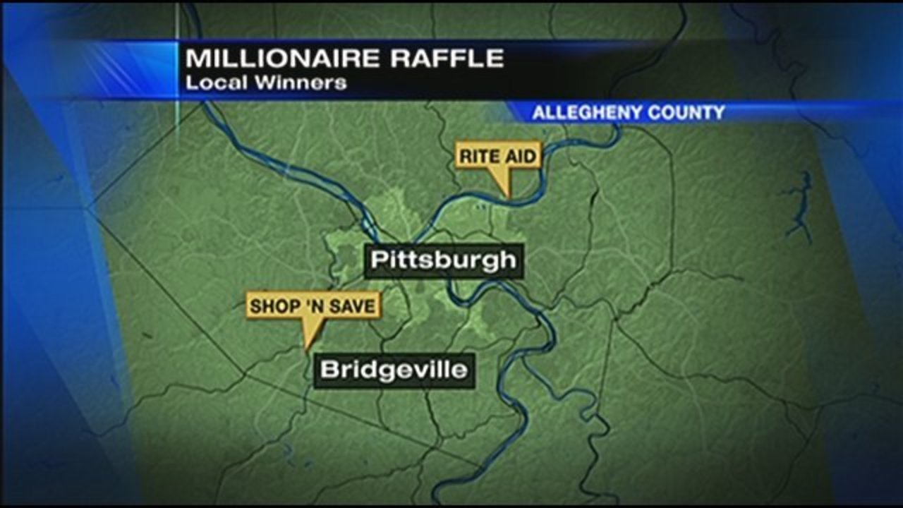 Two $1M tickets from PA Lottery's 'Millionaire Raffle' sold