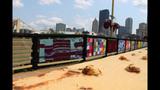 Andy Warhol Bridge gets 'yarn bombed' - (3/25)