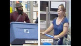 Surveillance images of couple accused of stealing from multiple local Walmart stores_3801434