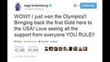 Gold medalist Sage Kotsenburg's tweets - (1/12)