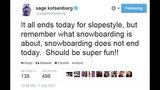 Gold medalist Sage Kotsenburg's tweets - (10/12)