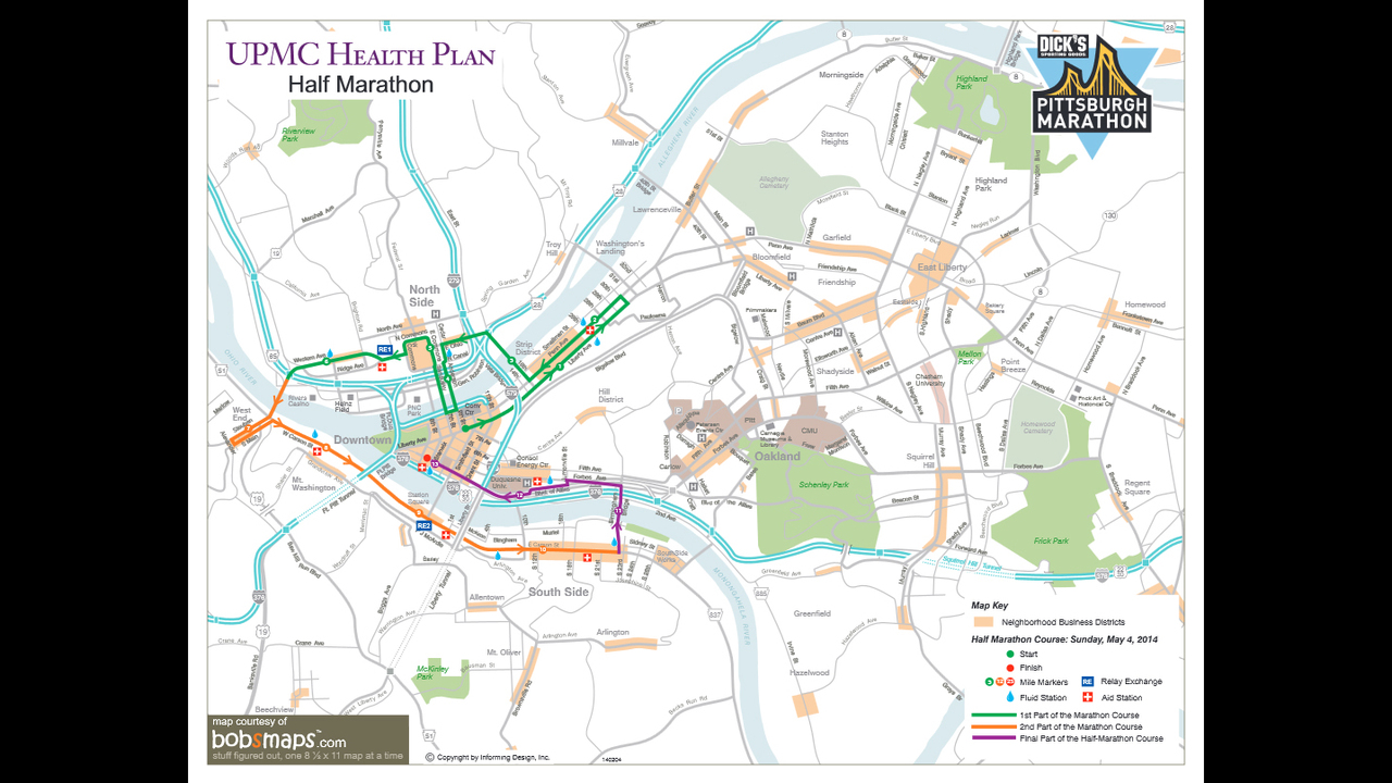 Pittsburgh Marathon Sunday Routes road closures guidelines