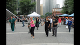 Ballroom dancing event held in Market Square - (3/25)
