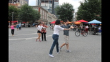Ballroom dancing event held in Market Square - (7/25)