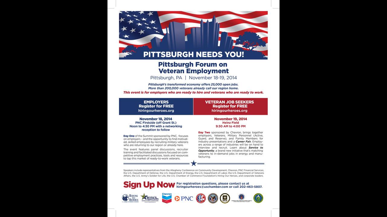 hiring heroes career fair for veterans today at heinz field wpxi