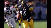 Jerome Bettis had six consecutive 1,000-yard seasons from 1996-2001 for the Pittsburgh Steelers.