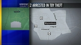 Two arrested in toy theft_8511862