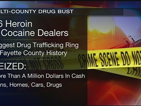 46 people charged in connection with Fayette County cocaine