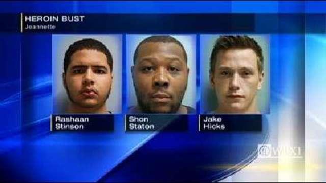 Police Arrest 3 Men Seize Over 400 Stamp Bags Of Heroin In Jeannette