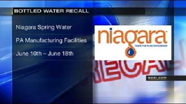 Bottled Water From Pa Manufacturing Facility Recalled Due To