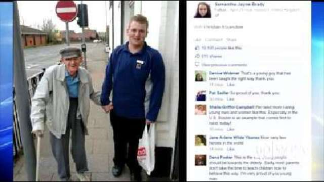 Teenage Aldi worker's act of kindness goes viral | WPXI