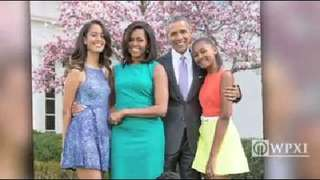 Obama Easter Family Portrait The First Posed For A Photo In Rose Garden Wpxi VideovideoId43940497videoVersion10