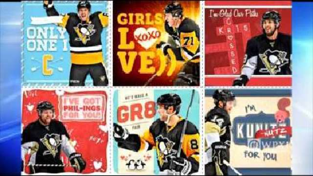 Steelers Penguins release sportsthemed Valentines Day cards – Sports Valentines Cards