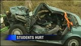 Teens injured in crash were on way to school, police say