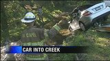 Investigators believe driver fell asleep before crashing into creek; Driver's ID released