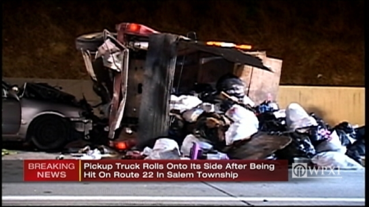 3 injured in crash that closed westbound lanes of Route 22