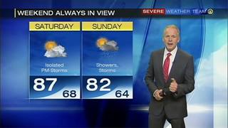 Heat rising, rain moving in for the weekend