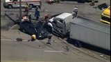 1 dead, 2 hospitalized after 7-vehicle pileup involving tractor trailer on Rt. 22