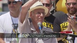 RAW: Penguins announcer Mike Lange speaks at rally