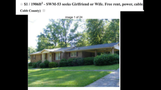 Man seeks wife/girlfriend in exchange for free rent, wi-fi and food