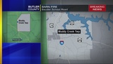 Crews battle barn fire in Butler County
