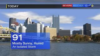 High temperature in 90s, isolated storm possible Saturday (7-23-16)