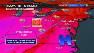 It will be hazy, hot & humid through Sunday (7-23-16)