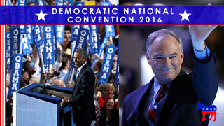 DNC: Obama boosts Clinton; Kaine accepts VP nomination