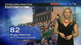 Steelers training camp practice forecast for Saturday