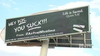 """""""Hey ISIS, you suck!"""" billboard is turning heads"""