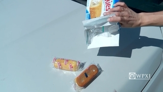 Police dog sniffs out drugs hidden in Twinkies