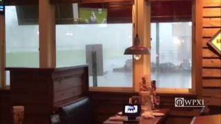 RAW: Tornado wipes out Starbucks in Indiana