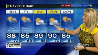 Forecast for tonight, tomorrow + 5-day (8/25/16)
