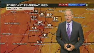 Hot weekend ahead with temps nearing 90
