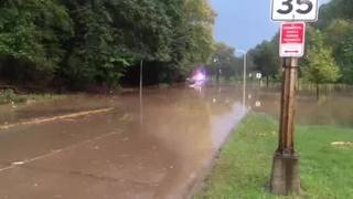 Raw Video: Washington Boulevard Flood (8/28/16)