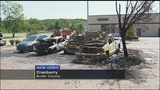 Truck fire spreads to 2 other cars in auto shop parking lot