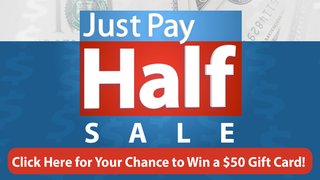 Enter To Win $50 Just Pay Half Card!