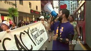 RAW: Trump protest outside Duquesne Club