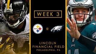 WEEK 3 PREVIEW: Unbeaten Steelers going head-to-head with unbeaten Eagles