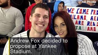 Fan from New Castle drops ring during televised Yankee Stadium engagement