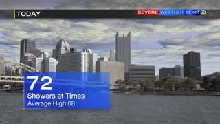 Showers at times Saturday (10/1/16)