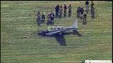 RAW: Chopper 11 over small plane crash at Palmer Airport
