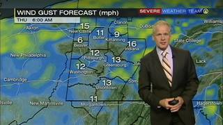 Wind gusts up to 25 mph possible Thursday