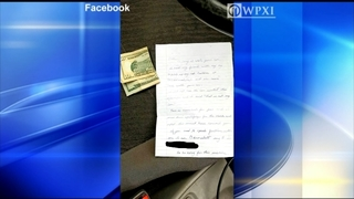 Stolen Subaru returned with note, gas money and a strange story