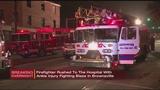 Firefighter injured battling Brownsville blaze