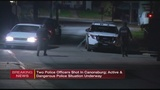 Two police officers shot in Canonsburg