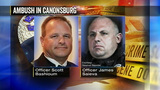 1 officer killed, another wounded in Canonsburg ambush; suspect and pregnant wife dead